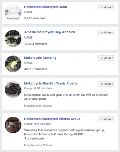 Motorcycle Facebook Groups