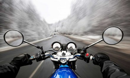 Riding a Motorcycle in the Winter